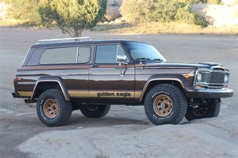 jeep golden eagle interior 1979 jeep golden eagle vortec restored