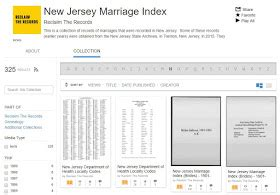 Marriage Records New Jersey Upfront With Ngs Reclaim The Records New Jersey Marriage Index 1901 2016 Now