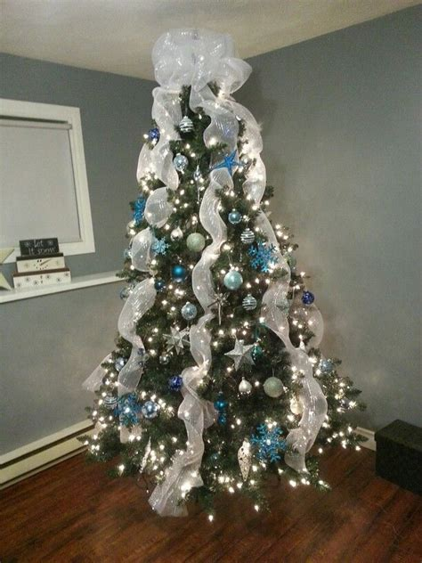 tree blue and silver 421 best trees images on decorated