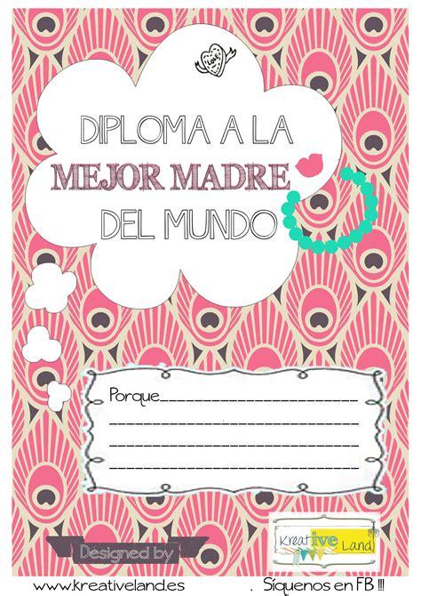 diploma madres diploma mejor madre del mundo gratis para imprimir