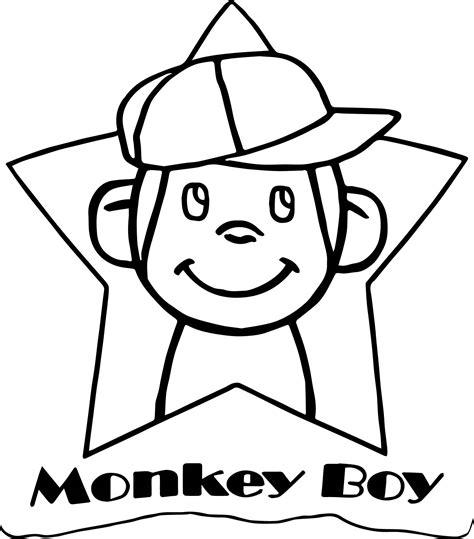 happy star coloring page monkey boy happy star coloring page wecoloringpage