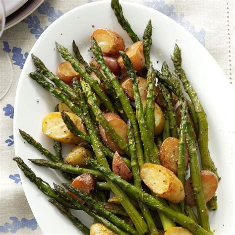 rosemary roasted potatoes and asparagus recipe taste of home