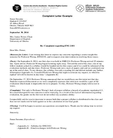 Complaint Letter Quiz best of ending a formal letter how to format a cover letter