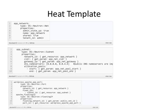 template languages for openstack heat and tosca
