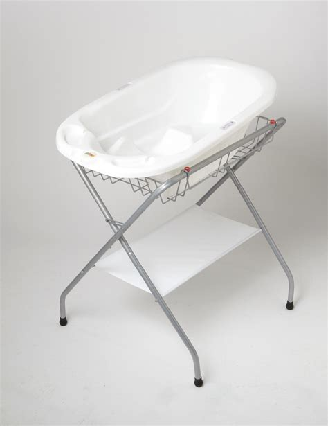 amazon com primo folding bath stand silver gray baby