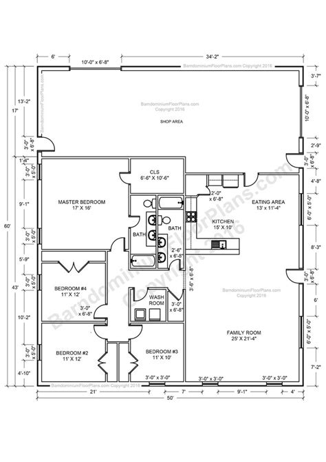 House Plans Shop by Barndominium House Plans 40x50 House Floor Plans 40x60