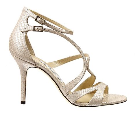 sandals heels lyst jimmy choo fenzy 8 heel pearly leather sandal shoes