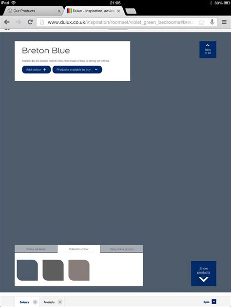 dulux breton blue paint for walls