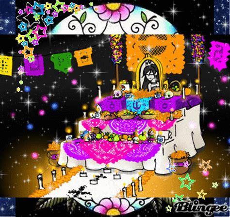 imagenes animadas de ofrendas de dia de muertos fotos animadas altar de muertos para compartir 130984194