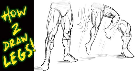 Drawing Legs by How To Draw Legs Tutorial Comic Book Style Narrated