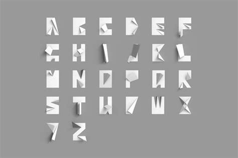 Folded Paper Font - folded paper font typography typography