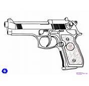 How To Draw A Beretta 92 Gun Step 6jpg