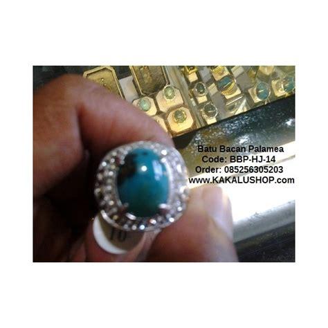 Senter Hijau jual cincin batu bacan palamea warna hijau tembus cahaya