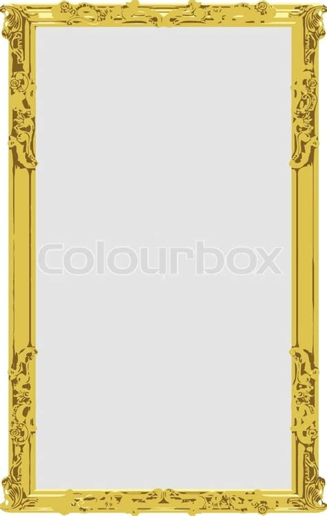 Model Home Interior Design Jobs by Vector Gold Frame Stock Vector Colourbox