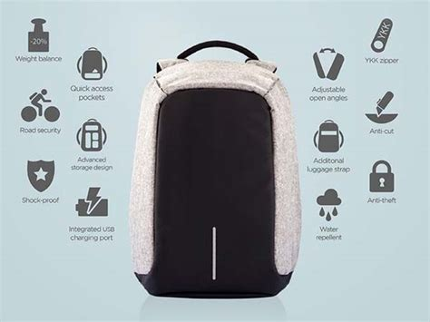 Bobby Anti Theft Backpack Keeps Your Items Safe During