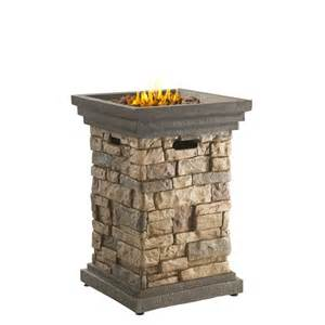 Propane Outdoor Patio Heater Shop Bond Canyon Ridge 19 5 In W 40 000 Btu Brown