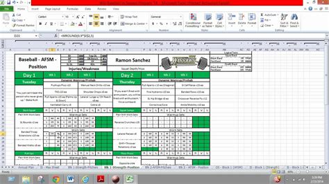 excel for a strength coach part 4 youtube