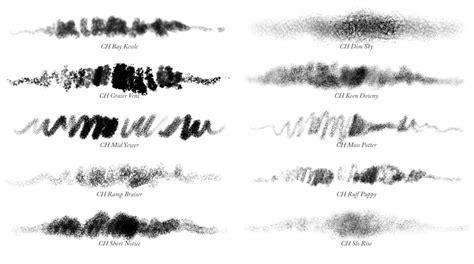 photoshop brushes charcoals 01 10 photoshop charcoal brushes grutbrushes