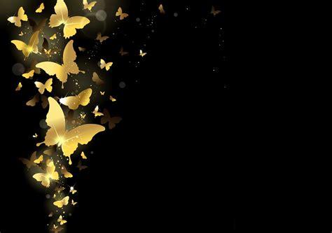 French Design tapete schmetterlinge golden design funkeln
