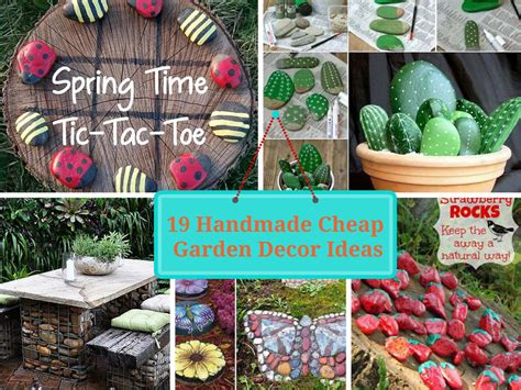 handmade cheap garden decor ideas  upgrade garden