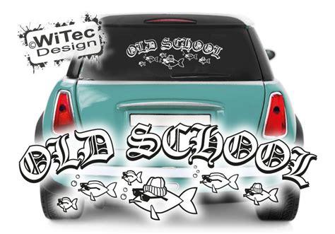 Fisch Aufkleber Auto by Autoaufkleber School Fisch Retro Auto Aufkleber