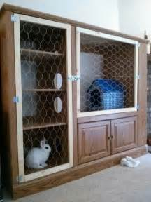 Bunny Hutches Rabbit Hutch Ideas Made From Repurposed Furniture The