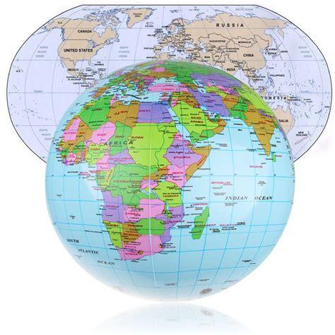 cm inflatable earth world globe map beach ball