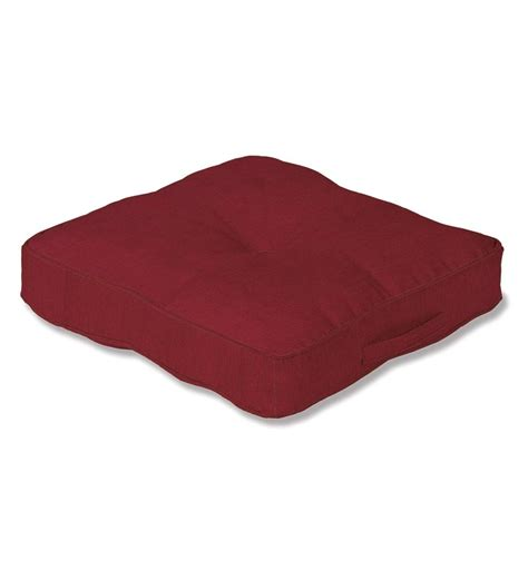 Outdoor Floor Cushion by Polyester Classic Tufted Floor Cushion With Handle 20 Quot Sq