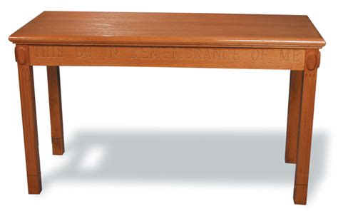 Communion Table by 32 Quot Stained Wood Open Communion Table From Imperial Tot