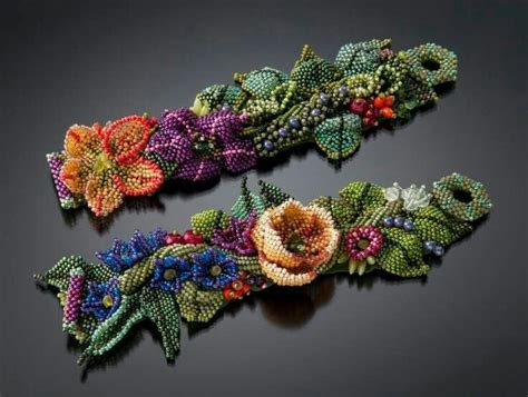 Other Designers Julie K Toni In Wristlet by 1000 Ideas About Beaded Flowers On