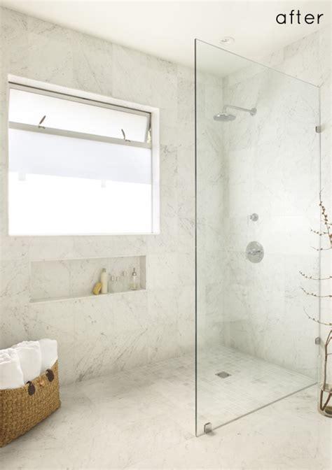 Before After Luxe Spa Bathroom Makeover Design Sponge