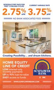 how does home equity line of credit work sunflower bank heloc 187 sunflower bank