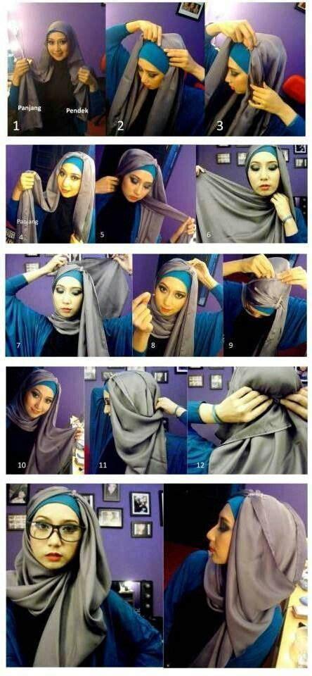 draped hijab hijab tutorial pinterest side drape hijab style hijab tutorial pinterest