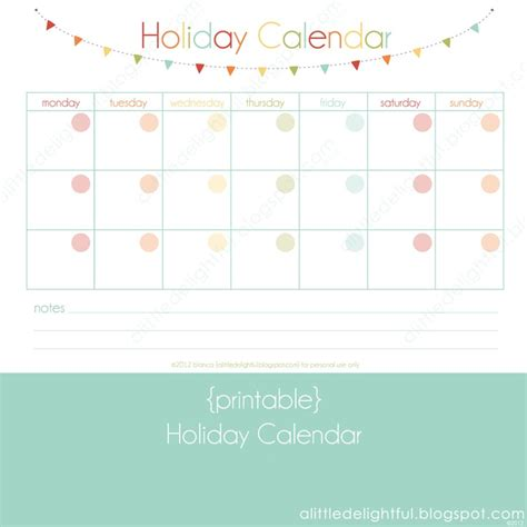 holiday itinerary calendar calendar template 2016