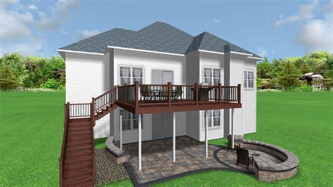 deck designs for ranch homes studio design gallery