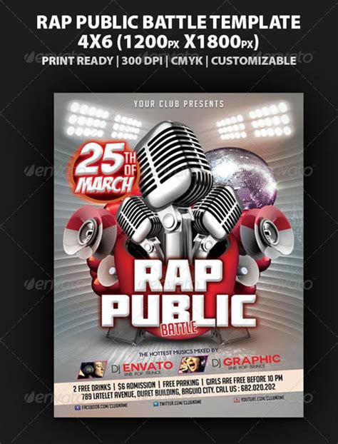 rap template graphicriver rap battle flyer template