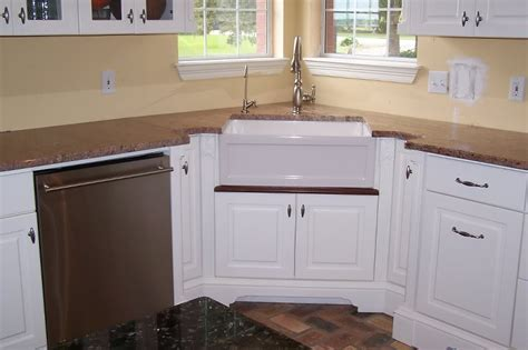 kitchen cabinets corner sink oooh corner farmhouse sink for the home pinterest