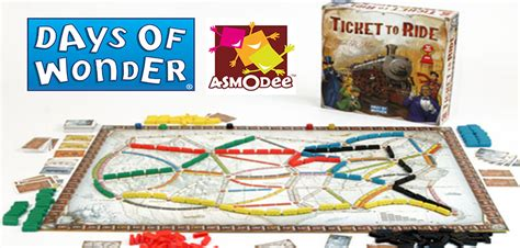 Asmodee Ticket To Ride by Asmodee Buys Days Of And Merges With Ticket To Ride Publisher The Escapist