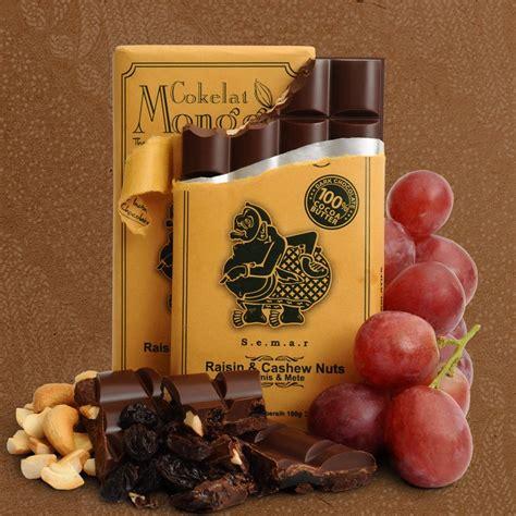 Cokelat Monggo Coklat Asli Jogja jual coklat kismis kacang mete 100 gram cokelat monggo