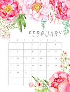Calendar 2018 Printable Floral Free Printable 2017 Floral Calendar The Cottage Market