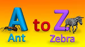 a to z alphabets with spellings for children how to