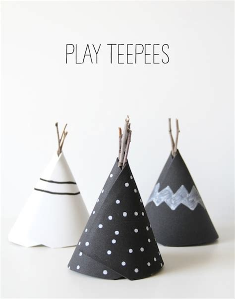 How To Make Paper Teepees - make a miniature teepee munchkins and