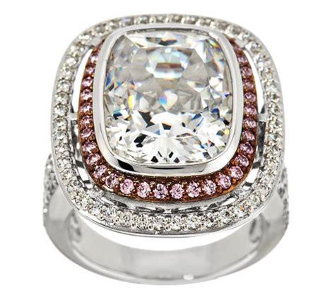 epiphany diamonique emerald cut halo ring j287137