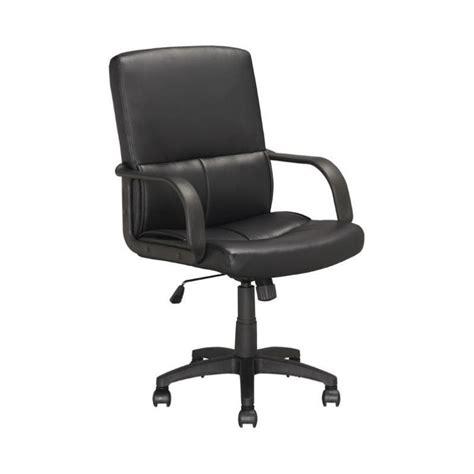 Faux Leather Swivel Office Chair In Black Lof 308 O Faux Leather Swivel Chair