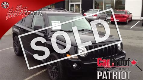 toyota jeep black sold 2007 black jeep patriot 4x4 for sale at valley