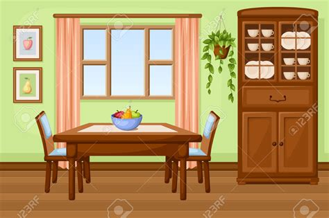 picture of room dining room clipart