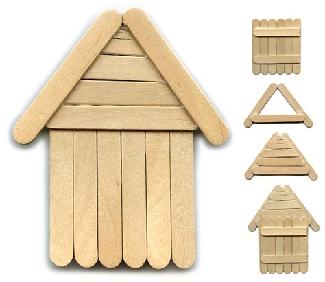 popsicle stick house another popsicle stick house art projects for kids