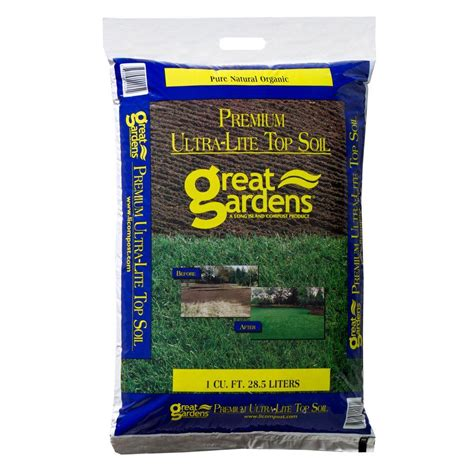 great gardens 1 cu ft premium ultra lite top soil 660
