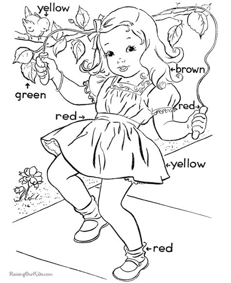 color activities for kids coloring home