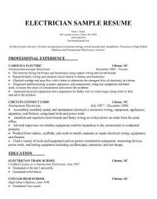 electrician resume template free electrician resume sle ready